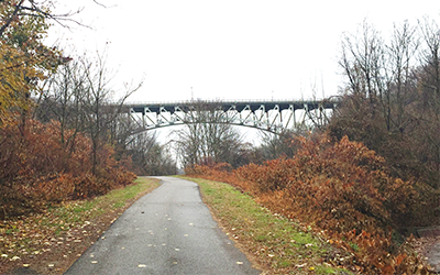 A view of the Parkway East from the Trail
